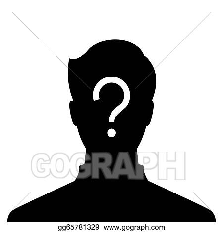 stock illustration anonymous male profile picture clipart drawing