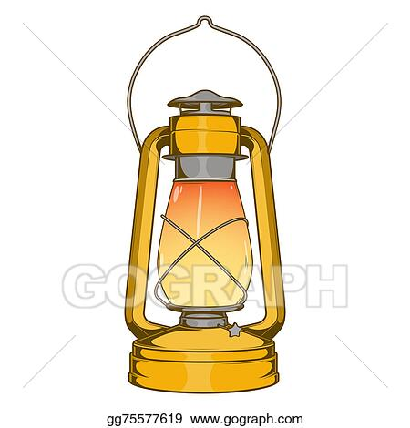 Antique Brass Old Kerosene Lamp
