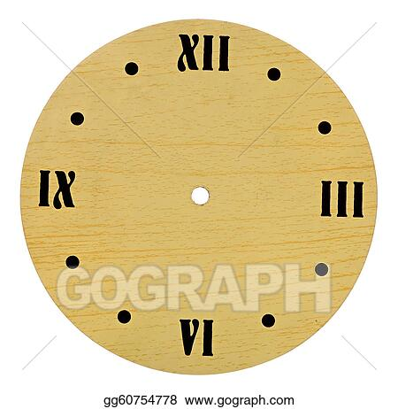 stock photo antique clock face without hands stock photography