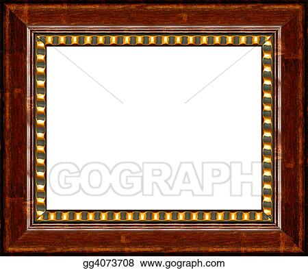 Stock Photo - Antique dark wooden picture frame isolated. Stock ...