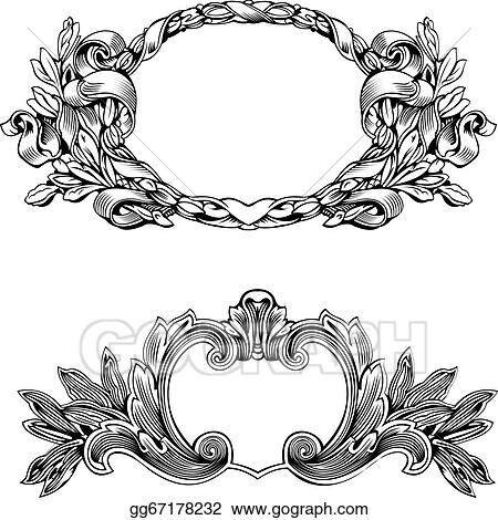 antique frame drawing. Antique Frame Engraving, Scalable And Editable Vector Illustration Antique Frame Drawing T
