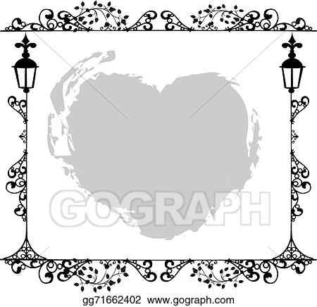 Vector Art - Antique frame ornaments vectors. Clipart Drawing ...