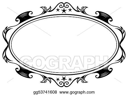 Antique Frame Drawing On Antique Oval Frame Vector Art Frame Clipart Drawing Gg53741608 Gograph
