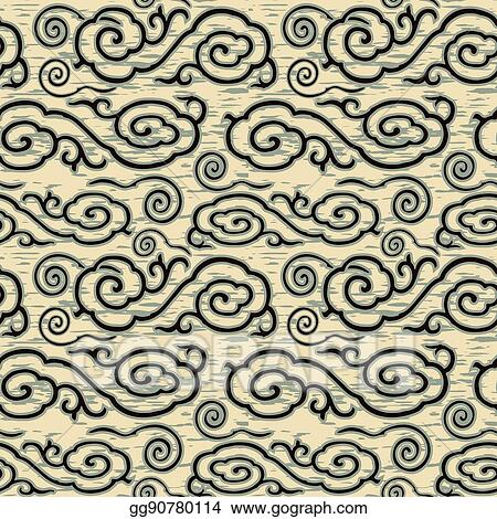 Vector Stock - Antique seamless background image of vintage
