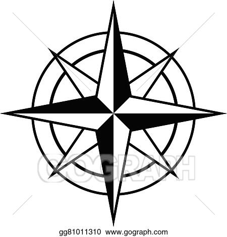 eps illustration antique style compass rose icon vector clipart