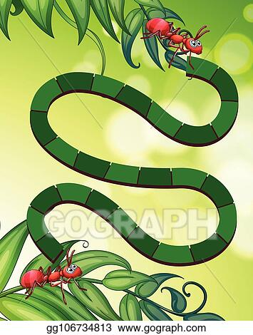 Vector Stock - Ants maze puzzle game  Clipart Illustration