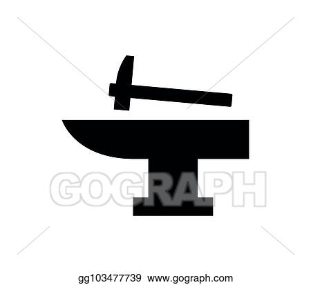 Vector Art - Anvil icon  Clipart Drawing gg103477739 - GoGraph