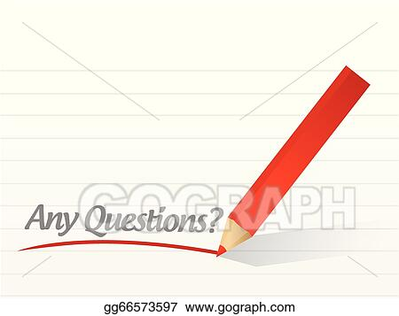 Eps Illustration Any Questions Written On A White Paper Vector