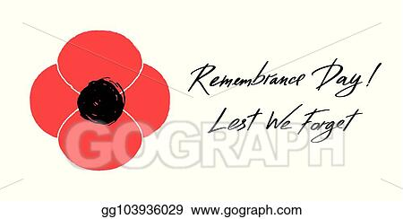 Vector illustration anzac day vector banner red poppy flower anzac day vector banner red poppy flower illustration and lettering remembrance day and lest we forget mightylinksfo