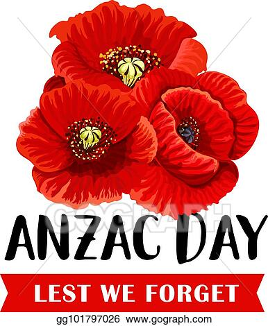 Vector stock anzac remembrance day icon with red poppy flower anzac remembrance day icon with red poppy flower mightylinksfo