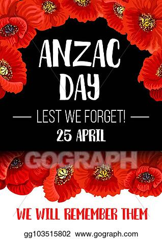 Eps illustration anzac remembrance day red poppy flower banner anzac remembrance day red poppy flower banner mightylinksfo
