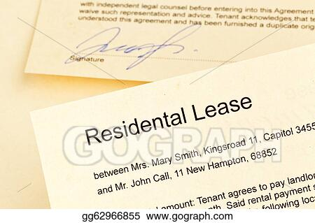 Pictures - Apartment keys and rental agreement  Stock Photo