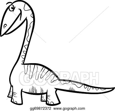 Triceratops dinosaur coloring page Royalty Free Vector Image | 434x450
