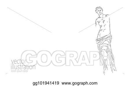 Eps Vector Aphrodite Of Milos Venus De Milo Ancient Greek