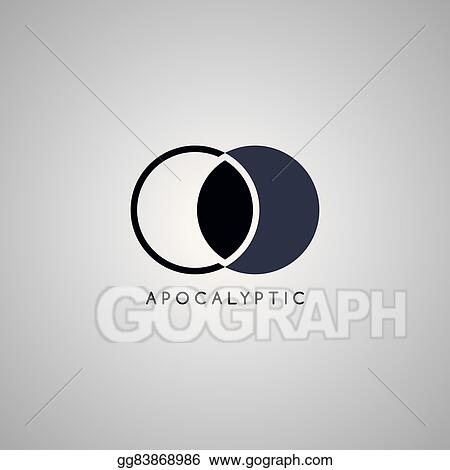 vector art apocalypse moon logo template clipart drawing