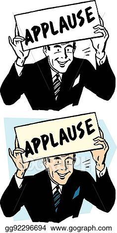 Vector Stock - Applause sign. Stock Clip Art gg92296694 ...  Applause Clip Art