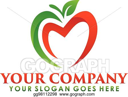 Vector Clipart Apple Logo Nutrition Fruit Nature Icon Symbol