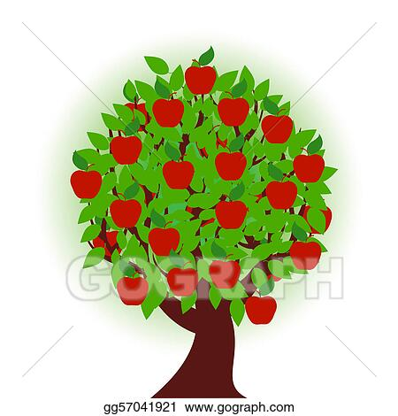 Apple With Design Clip Art Vector Image Without Background