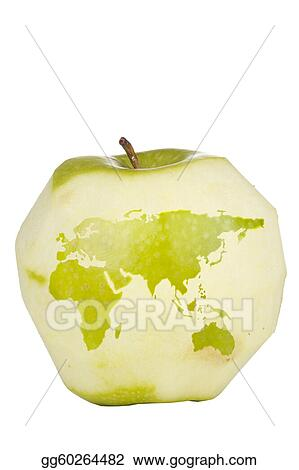Clipart apple world map stock illustration gg60264482 gograph apple world map gumiabroncs Images