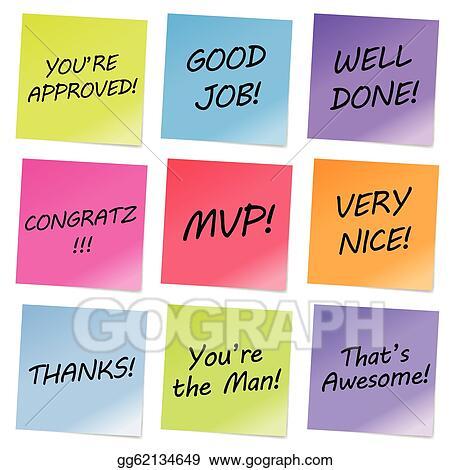 Eps illustration appreciation notes vector clipart gg62134649 appreciation notes thecheapjerseys Gallery