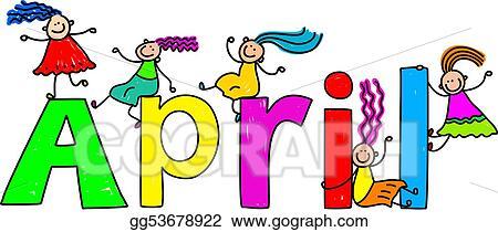 April name. Stock illustration clipart illustrations
