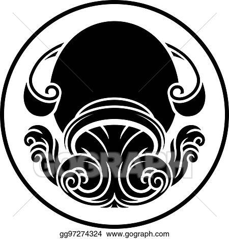 Vector Stock Aquarius Zodiac Horoscope Sign Clipart Illustration