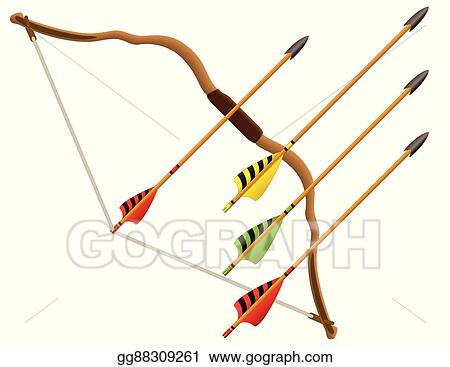Vector Art Archery Bow And Arrows Clipart Drawing Gg88309261