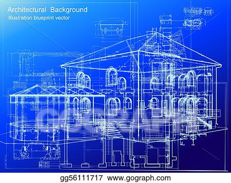 Vector stock architectural blueprint background vector architectural blueprint background vector malvernweather Image collections