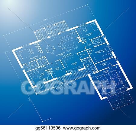 Vector stock architectural blueprint background vector clipart architectural blueprint background vector malvernweather Choice Image