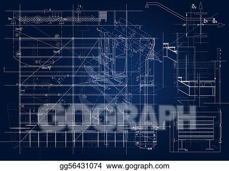 Stock illustration architectural blueprint clip art gg56431074 architectural blueprint malvernweather Image collections