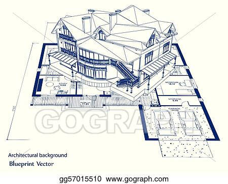 Vector art architecture blueprint of a house vector clipart architecture blueprint of a house vector malvernweather Images