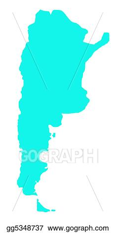 Stock Illustration Argentina Map Outline Clipart Gg - Argentina map outline