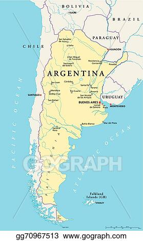 Clip Art Vector Argentina political map Stock EPS gg70967513