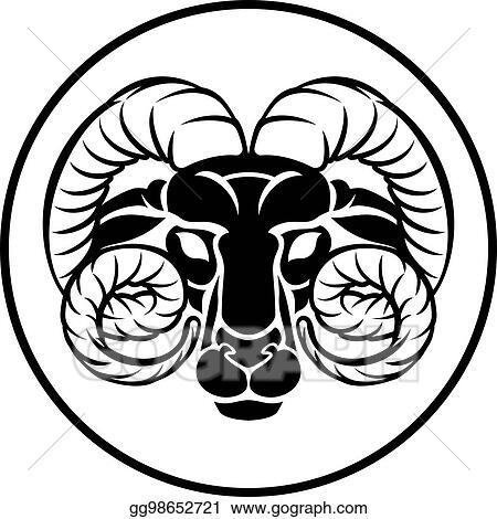 c91f214e8 Vector Illustration - Aries zodiac astrology ram sign. EPS Clipart ...