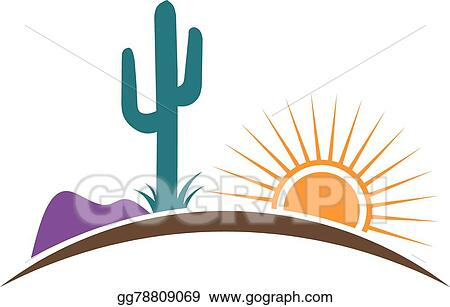 vector illustration arizona desert logo eps clipart gg78809069 rh gograph com arizona cardinals clip art arizona clip art free