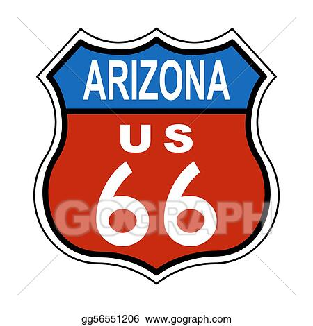 stock illustration arizona route us 66 sign clipart gg56551206 rh gograph com arizona clip art saguaro arizona clipart heart