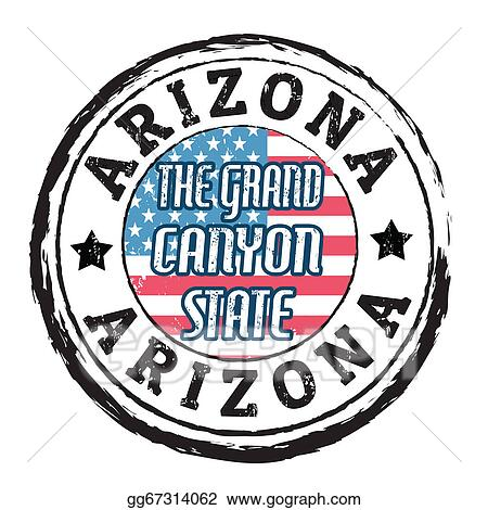 vector illustration arizona the grand canyon state stamp eps rh gograph com grand canyon clip art grand canyon clipart
