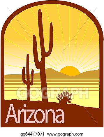 vector art arizona clipart drawing gg64417071 gograph rh gograph com arizona state clip art phoenix arizona clip art