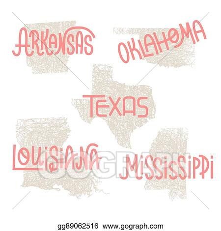 Arkansas Oklahoma Texas Louisiana Mississippi Usa Gg89062516 on Letter Gg Craft