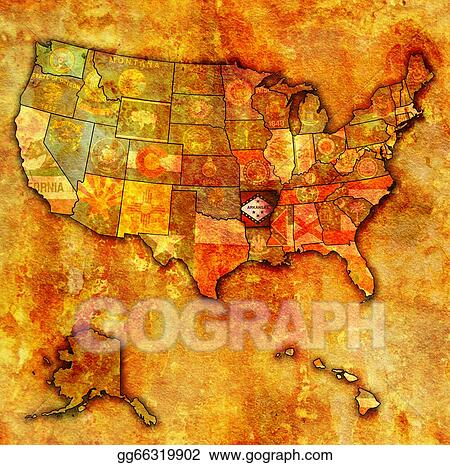 Drawing  Arkansas on map of usa Clipart Drawing gg66319902  GoGraph
