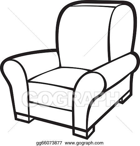 armchair clipart. vector illustration - armchair (leather tub chair). stock clip art gg66073877 clipart