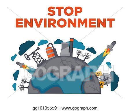 Clip Art Vectoriel Arrêt Environnement La Terre