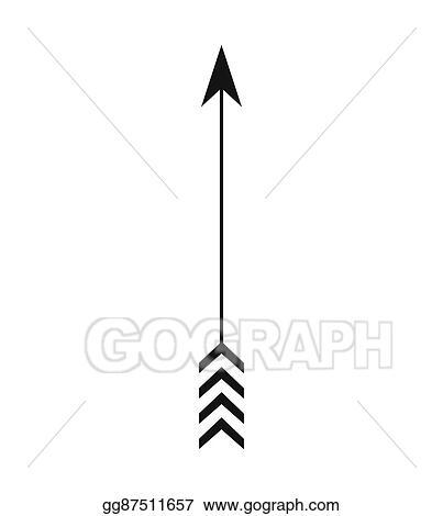 Vector Clipart - Arrow feather vintage decoration icon