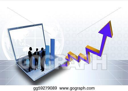 stock illustration arrow graph showing high growth anything rh gograph com Business Development Clip Art Business Clip Art