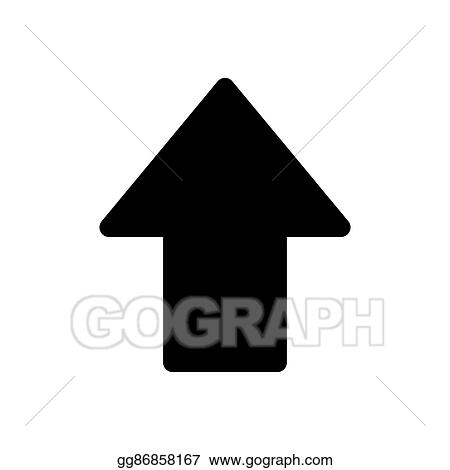 Vector Stock Arrow Pointing Up Icon Clipart Illustration