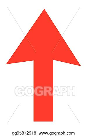 Eps Illustration Arrow Pointing Up Vector Clipart Gg95872918
