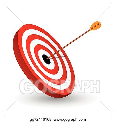 Vector Stock Arrow Right On The Target Symbol Of Winning Clipart