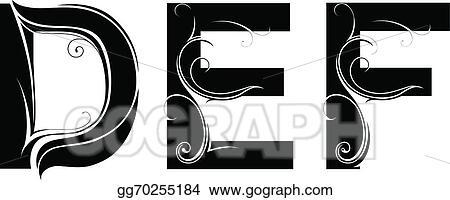 Vector Clipart Artistic Font Type Vector Illustration Gg70255184