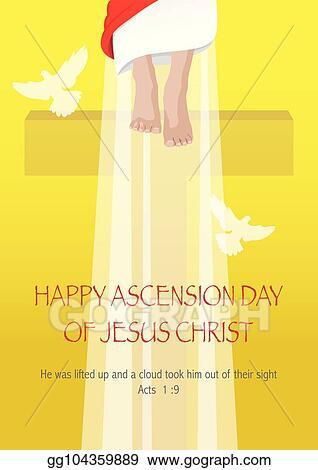 Clip Art Vector Ascension Day Of Jesus Christ Stock Eps