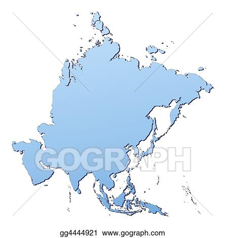 Map Of Asia High Resolution.Clip Art Asia Map Stock Illustration Gg4444921 Gograph